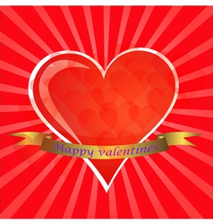 Love You Valentine Greeting card vector image