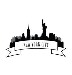 nyc cityscape urban city skyline travel usa vector image