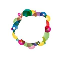 Radial gradient circles vector image
