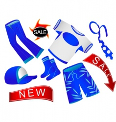 shop of clothes vector image vector image