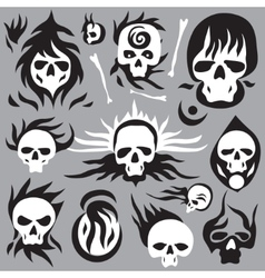 skulls cartoons vector image