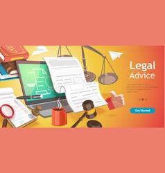 3d conceptual online legal vector image