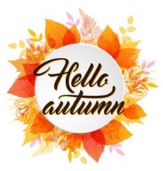 Abstract autumn banner vector