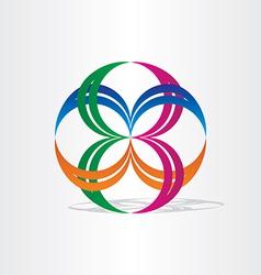 Abstract connection icon design vector