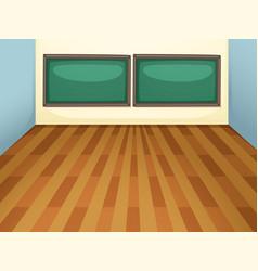 An empty classroom at school vector