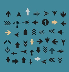 Arrow sign silhouettes collection vector image