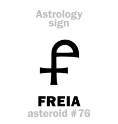 Astrology asteroid freia vector