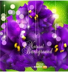 background with romantic violets vector image vector image