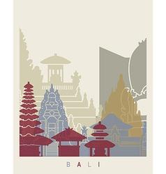 Bali skyline poster vector