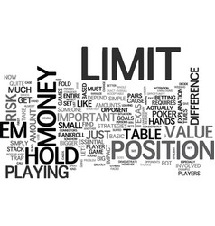 Basic no limit hold em poker strategies text word vector