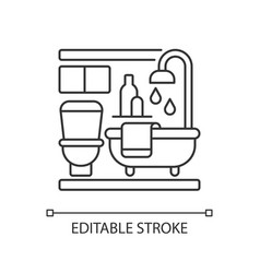 baths pixel perfect linear icon vector image