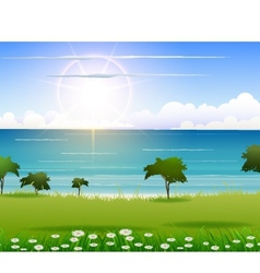Beauty nature beach background vector
