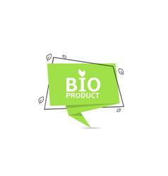 bio product sticker vector image
