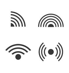 black wave sound design vector image