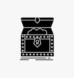 Box chest gold reward treasure glyph icon isolated vector