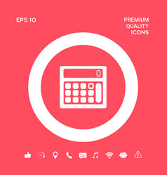 calculator symbol icon graphic elements for your vector image