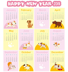 calendar template for 2018 vector image