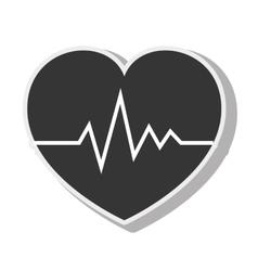 cardio pulse heart design vector image