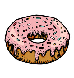 Cartoon image of doughnut vector