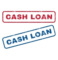 Cash Loan Rubber Stamps vector image