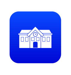 Chapel icon digital blue vector