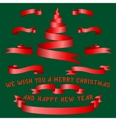 Christmas ribbons vector