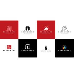 Collection horse logo design vector