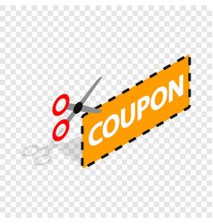 coupon code isometric icon vector image