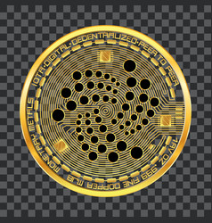 crypto currency iota golden symbol vector image