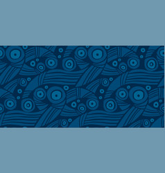 Decorative sea waves 60s style pattern vector