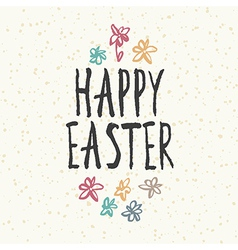easter hand drawn card vector image