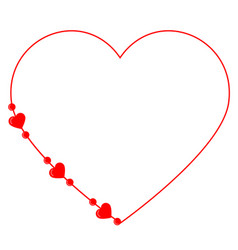 editable card with red heart silhouette for vector image