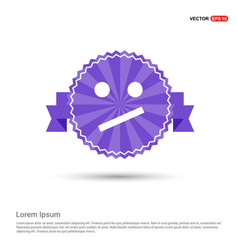 emoji icon - purple ribbon banner vector image