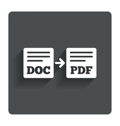 Export DOC to PDF icon File document symbol vector