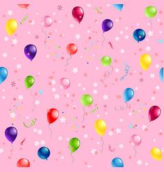 Festive balloons pattern vector