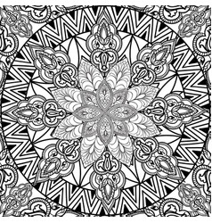 floral pattern flourish tiled ethnic background vector image vector image