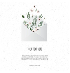 flowers in envelope on the white background vector image