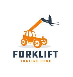 forklift logo design your vector image