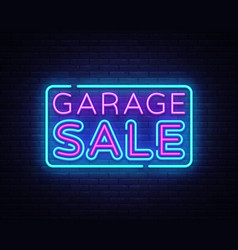 garage sale discount sale concept vector image