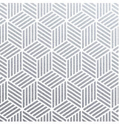 geometric silver 3d cubes seamless pattern with vector image
