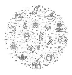 graphic set alternative medicine vector image