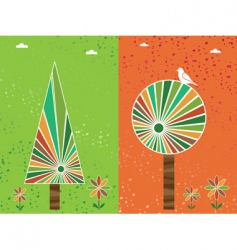 grunge floral backgound vector image