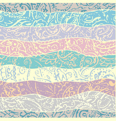 Grunge paisley pattern in collage patchwork style vector