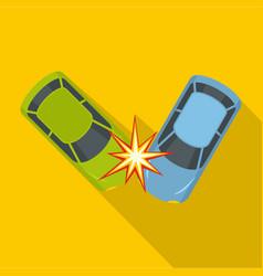 hard collision icon flat style vector image