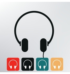 Headphone icon vector image