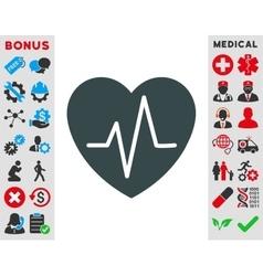 Heart Ekg Icon vector image