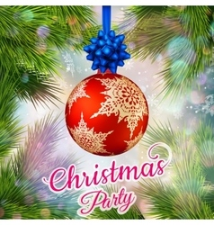 Holiday Merry Christmas party template EPS 10 vector