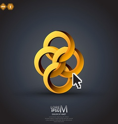 impossible circles vector image