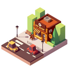 Isometric pet store vector