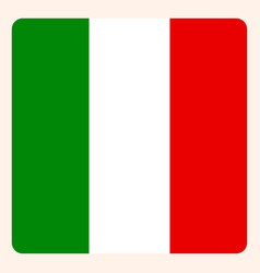 italy square flag button social media vector image